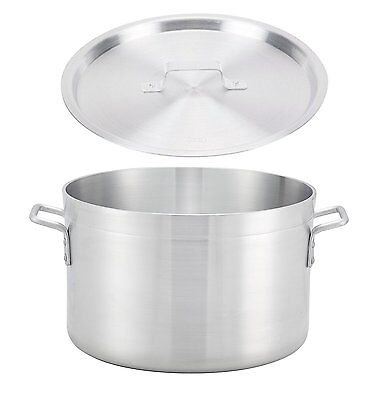 """Winco 10.37"""" x 10.37"""" Sauce Pot with Cover, Thick Aluminum Pot with Lid"""