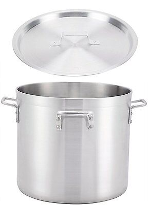 "Winco 21.7"" x 19.5"" Aluminum Stock Pot with Cover"