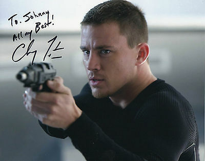 "CHANNING TATUM Signed Autographed Photograph ""To Johnny"""