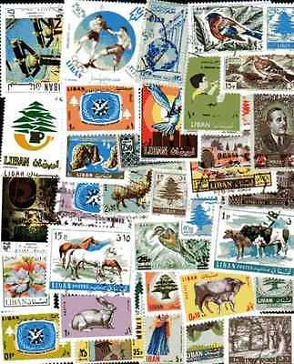 LEBANON - LEBANON collectables from 25 to 1000 stamps different