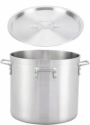 "Winco 20"" x 17.7"" Extra Heavy Aluminum Stock Pot with Cover"