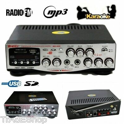 Ts Amplificatore Digitale Per Karaoke Mixer Audio Usb Rca Sd Mp3 Professionale D