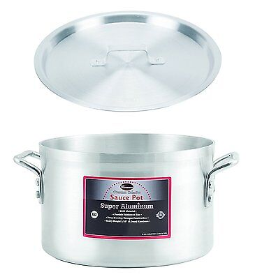 "Winco 13"" x 9"" Sauce Pot With Cover, Aluminum Pot with Lid"