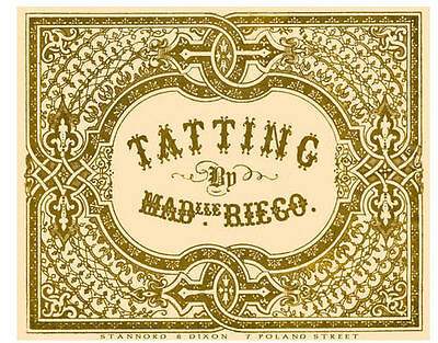 The Tatting Book #1 c.1850 by Riego - Needle Tatting