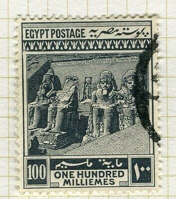 EGYPT;   1914 early Pictorial issue fine used  100m. value