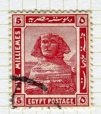 EGYPT;   1914 early Pictorial issue fine used  5m. value