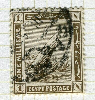 EGYPT;   1914 early Pictorial issue fine used  1m. value