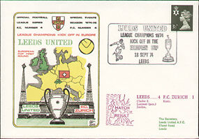 Leeds Utd in European Cup 1974 Dawn First Day Cover
