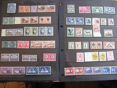 South Africa 1910 to 1970's mint selection of 64 stamps including joined pairs