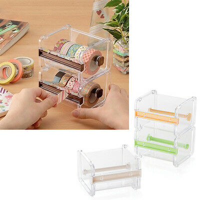 Practical Desktop Tape Dispenser Cutter Washi Tape Dispenser Roll Tape Holder~