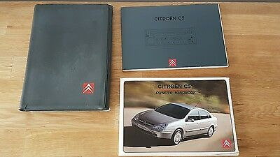 Genuine CITROEN C5 Owners Manual Handbook Document Pack Wallet 2001-2005