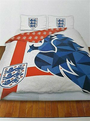 "New England Football Team 'lion's"" Double Duvet Quilt Cover Set Kids Boys Bed"