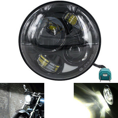 "7"" Motorcycle Car Daymaker Projector LED Headlight Bulb Universal Fr Harley Jeep"