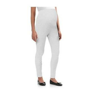 Oh! Mamma Full Panel Maternity Leggings, Heather Grey, Small