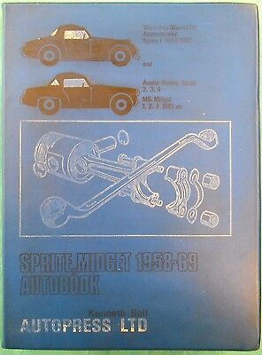 Autopress Workshop Manual Austin Healey Sprite & MG Midget, 1958 to 1969.