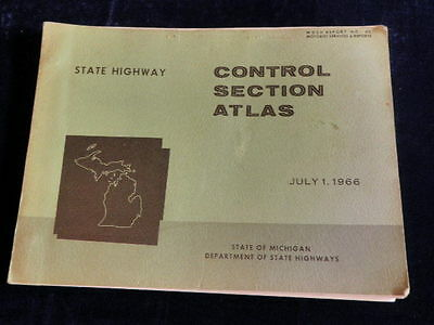 Vintage 1966 Michigan Department of State Highway Atlas all Counties 92 Maps A24