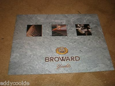"""""""BROWARD YACHTS 50 YEARS"""" MOTOR YACHT MARKETING SALES BROCHURE Lots of PICTURES"""