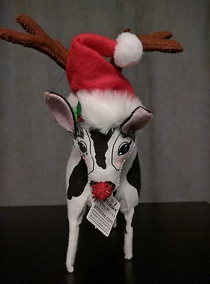 "Retired Annalee 7 Inch ""Got Christmas Cow"""