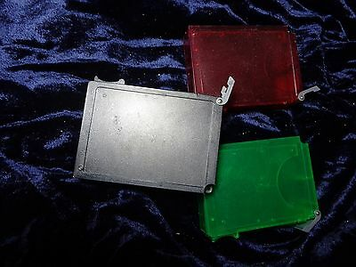Lot Of Three Trading Card Storage Cases - Red, Black And Green