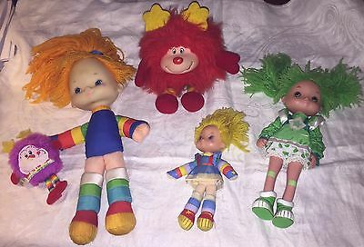 Vintage Rainbow Brite Lot Of 5 Dolls & Sprites