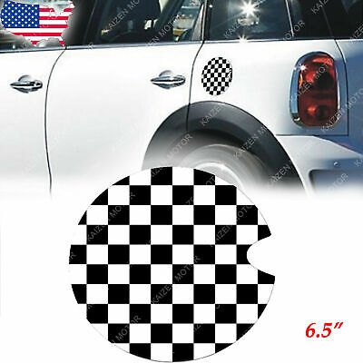 Resin Black Union Jack Gas Cap Cover 3D Sticker Decal For Mini One Clubman 09-13