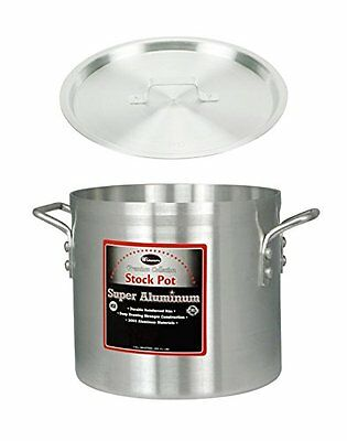 "Winco 13"" x 14"" Stock Pot with Cover, Aluminum Professional Sauce Pot with Lid"