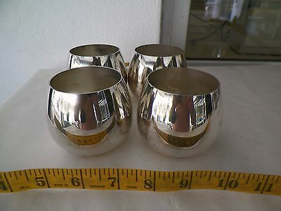 """Set Of 4 Rogers Silverplated Tumblers 2 1/2"""" Tall 2 3/8"""" Diameter"""