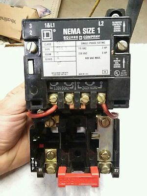 Square D Size 1 Class 8536 Type SC0 1 Series A Form S Motor Starter NEW
