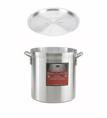 """Winco 10"""" x 9-1/4"""" Professional Pot with Cover, Aluminum Sauce Pot with Lid"""