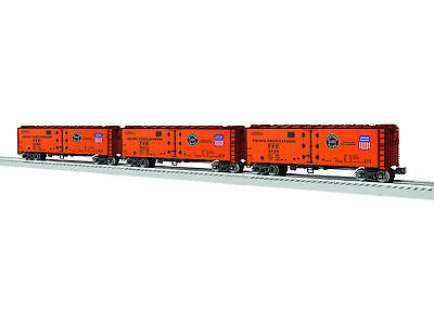 Lionel 6-83545 Pacific Fruit Express Pfe Vision Line Reefer 3-Pack Train Sounds