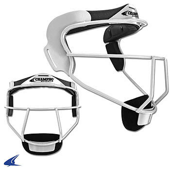 The Grill, Softball Fielder's Facemask- Youth 6 1/4-6 3/4, White