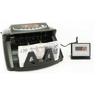 Electronic Money Bank Note Counter / Batch Sorter Super Fast Banknote Pound Cash