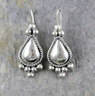 Gorgeous Mexico CII Signed 925 Sterling Silver Dangle Earrings