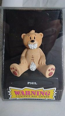 "Bad Taste Bears Figurine ""PHIL"" New Novelty Gag Gift Nasty Adult Funny Offensive"