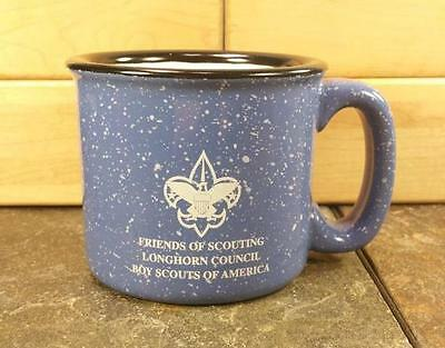 BSA Boy Scouts Friends of Scouting Longhorn Council Speckled Campfire Coffee Mug