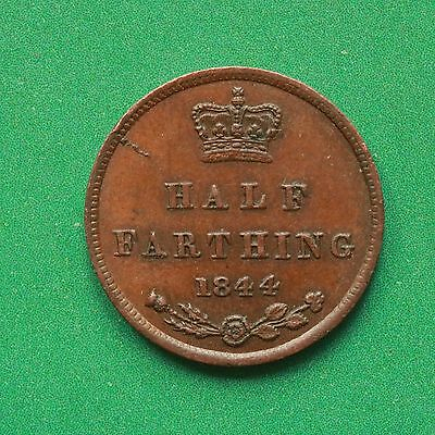 1844 Queen Victoria Half farthing 1/2 1/4 bottom of O missing SNo43358