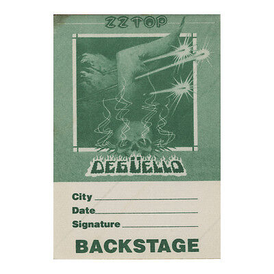 ZZ Top Green Backstage 1979-1981 Backstage Pass