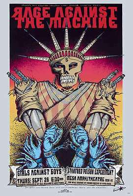 """RAGE AGAINST THE MACHINE POSTER 24""""x36"""" MUSIC BAND ROCK CONCERT SIDE SHEET PM258"""
