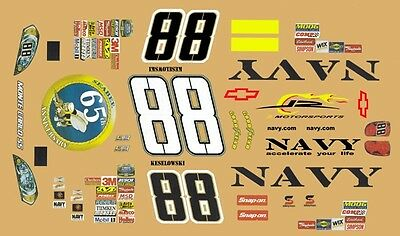 #88 Brad Keselowski Navy Seabees 2007 1/24th - 1/25th Scale Decals