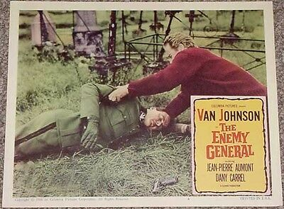 The Enemy General Lobby Card #4-Van Johnson-Military Vg