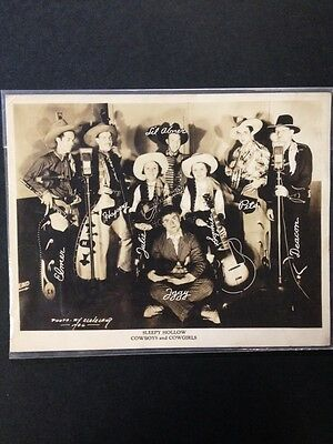 Vintage Sleepy Hollow Cowboys and Cowgirls Promo Photo