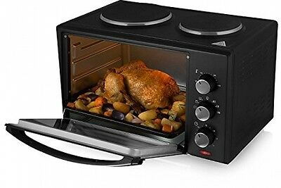 Tower T14014 Stainless Steel Mini Oven, 42 L - Black