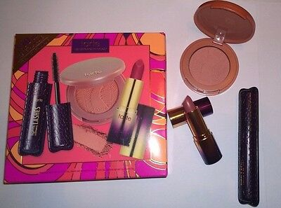 Tarte Deluxe Discovery Set Limited Edition, Blush Mascara Lipstick  - New in Box