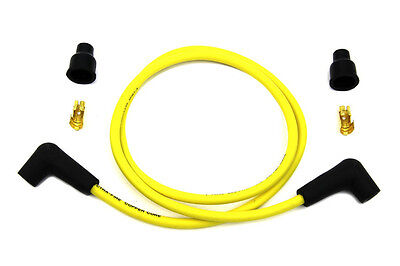 """Yellow Copper Wire Core 7Mm Spark Plug Wire Kit 40"""" Harley Bobber Chopper"""