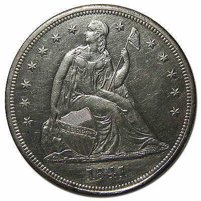 1841 Seated Liberty Silver Dollar $1 Coin Lot# MZ 3682