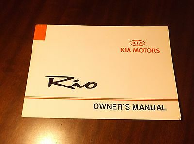 Kia Rio Owners Handbook Pack With Service Book Suit 2000 - 2005 Models