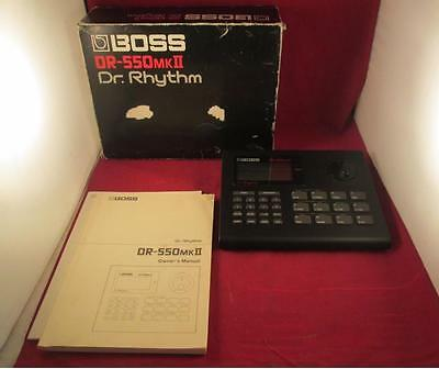 Vintage Boss DR-550 MK II MK2 Dr. Rhythm Drum Machine Serial CG63296 No Reserve