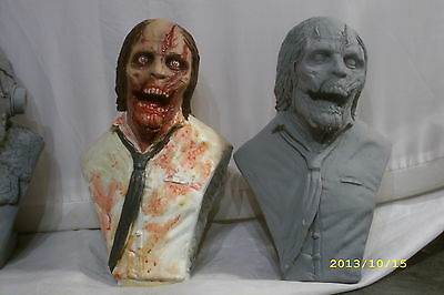 walking dead zombie bust resin.statue.not dvd cd vinyl rare model