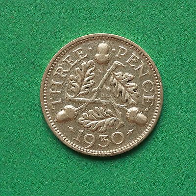 1930 George V Silver Threepence 3d SNo42081