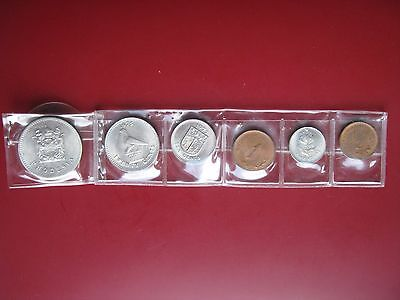 Rhodesia 1970-s 7 coin set from 1/2 to 25 Cents in good grade